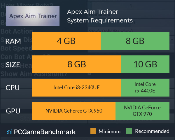 Apex Aim Trainer System Requirements PC Graph - Can I Run Apex Aim Trainer