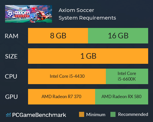 Axiom Soccer System Requirements PC Graph - Can I Run Axiom Soccer