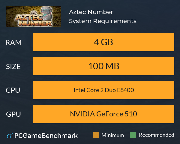 Aztec Number System Requirements PC Graph - Can I Run Aztec Number
