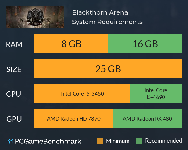 Blackthorn Arena System Requirements PC Graph - Can I Run Blackthorn Arena