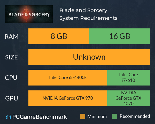 Blade and Sorcery System Requirements PC Graph - Can I Run Blade and Sorcery
