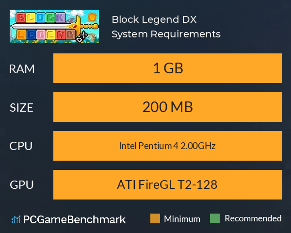 Block Legend DX System Requirements PC Graph - Can I Run Block Legend DX