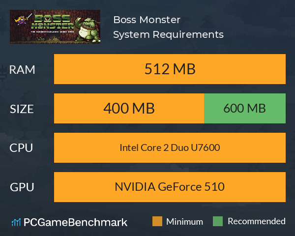 Boss Monster System Requirements PC Graph - Can I Run Boss Monster