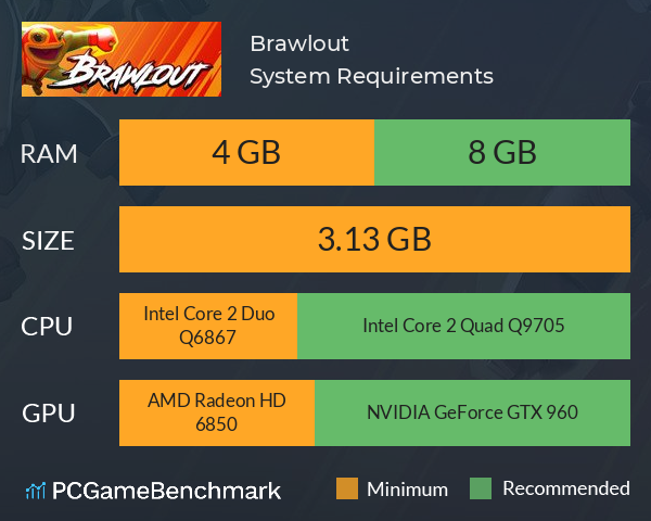 Brawlout System Requirements PC Graph - Can I Run Brawlout