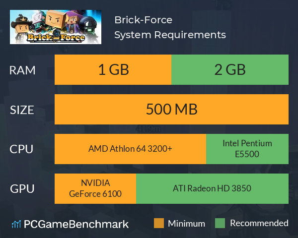 Brick-Force System Requirements PC Graph - Can I Run Brick-Force