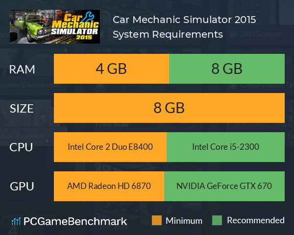 Car Mechanic Simulator 2015 System Requirements PC Graph - Can I Run Car Mechanic Simulator 2015