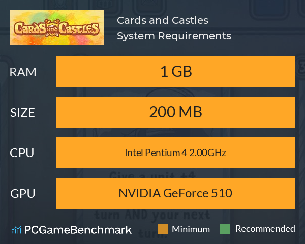 Cards and Castles System Requirements PC Graph - Can I Run Cards and Castles