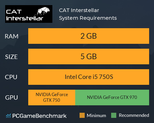 CAT Interstellar System Requirements PC Graph - Can I Run CAT Interstellar