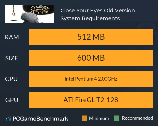 Close Your Eyes [Old Version] System Requirements PC Graph - Can I Run Close Your Eyes [Old Version]