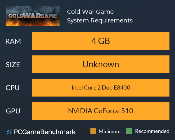 Cold War Game System Requirements PC Graph - Can I Run Cold War Game