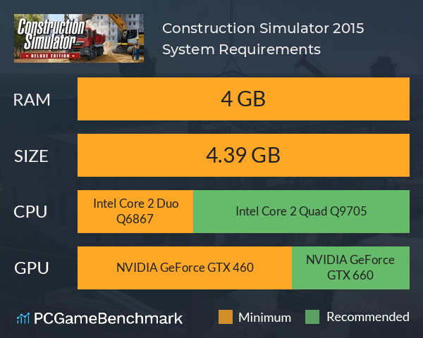 Construction Simulator 2015 System Requirements PC Graph - Can I Run Construction Simulator 2015