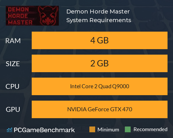 Demon Horde Master System Requirements PC Graph - Can I Run Demon Horde Master