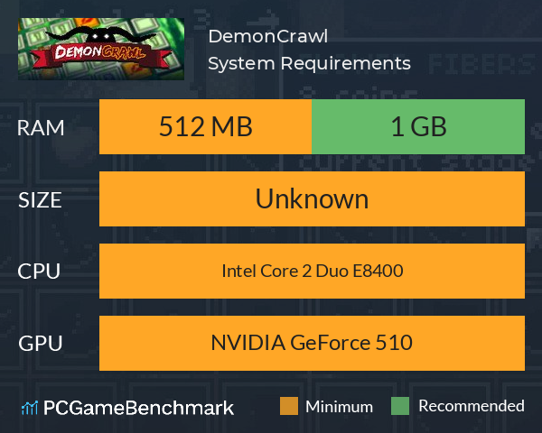 DemonCrawl System Requirements PC Graph - Can I Run DemonCrawl