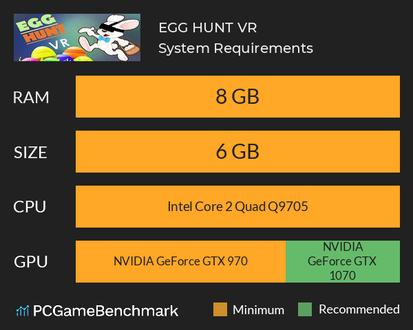EGG HUNT VR System Requirements PC Graph - Can I Run EGG HUNT VR