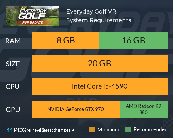Everyday Golf VR System Requirements PC Graph - Can I Run Everyday Golf VR