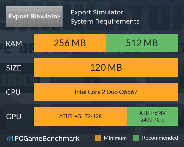 Export Simulator System Requirements PC Graph - Can I Run Export Simulator