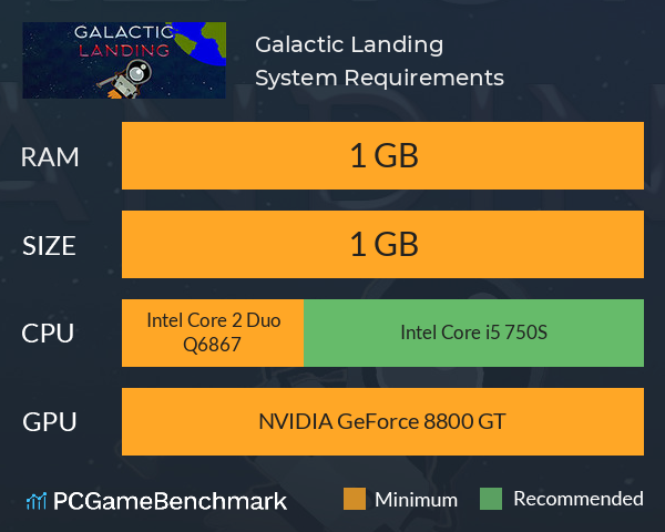 Galactic Landing System Requirements PC Graph - Can I Run Galactic Landing