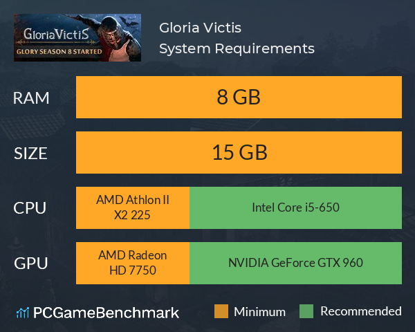 Gloria Victis System Requirements PC Graph - Can I Run Gloria Victis