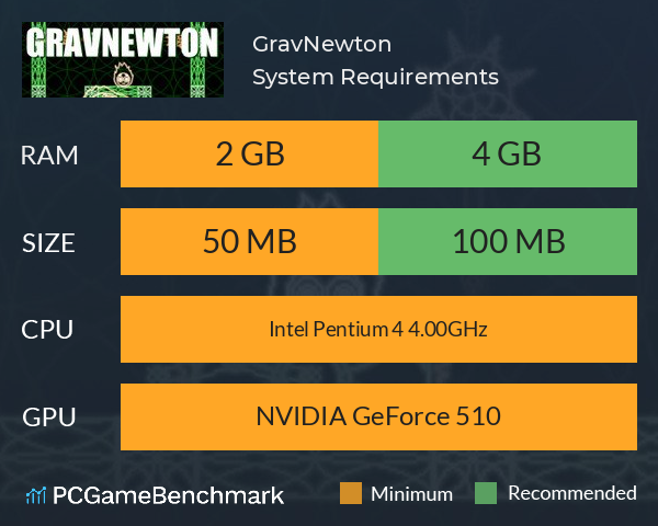 GravNewton System Requirements PC Graph - Can I Run GravNewton