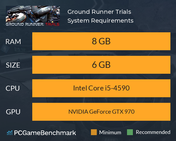 Ground Runner: Trials System Requirements PC Graph - Can I Run Ground Runner: Trials