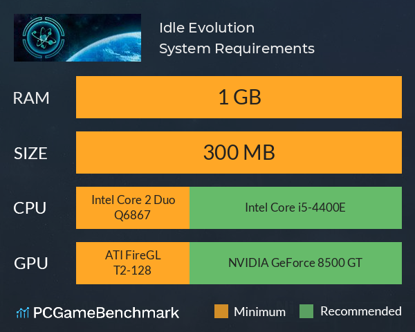Idle Evolution System Requirements PC Graph - Can I Run Idle Evolution