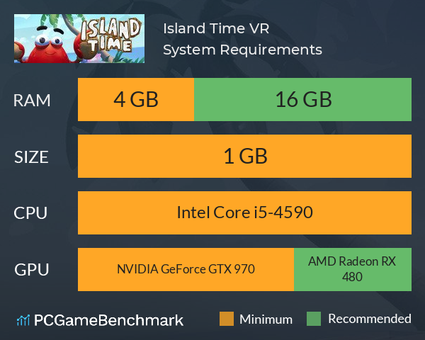 Island Time VR System Requirements PC Graph - Can I Run Island Time VR