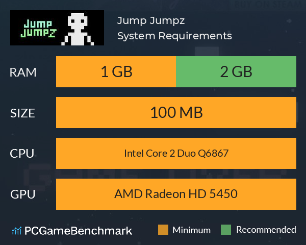 Jump Jumpz System Requirements PC Graph - Can I Run Jump Jumpz