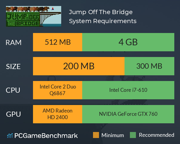 Jump Off The Bridge System Requirements PC Graph - Can I Run Jump Off The Bridge