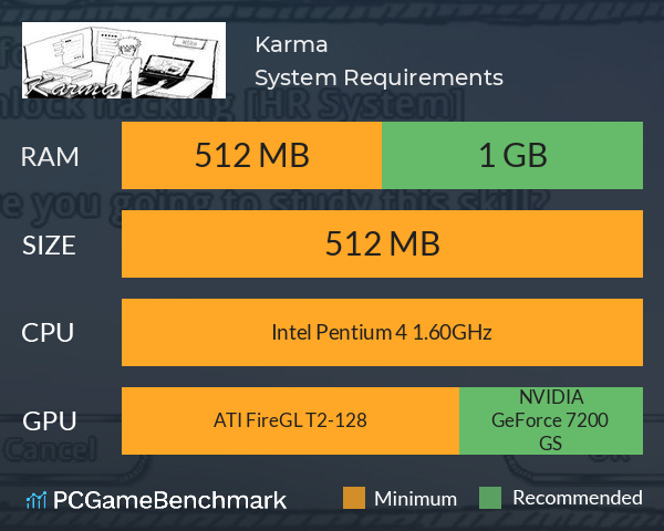 Karma System Requirements PC Graph - Can I Run Karma