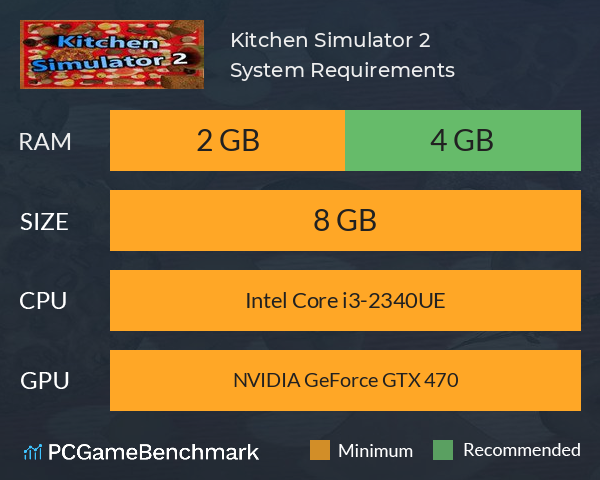 Kitchen Simulator 2 System Requirements PC Graph - Can I Run Kitchen Simulator 2
