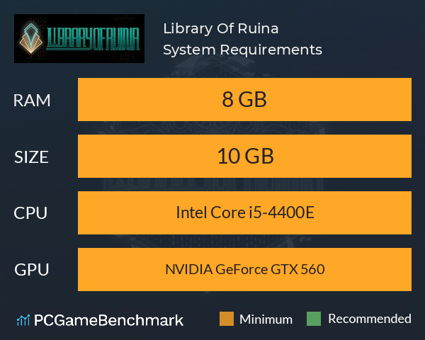Library Of Ruina System Requirements PC Graph - Can I Run Library Of Ruina