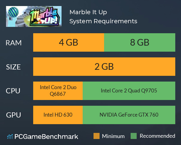 Marble It Up! System Requirements PC Graph - Can I Run Marble It Up!