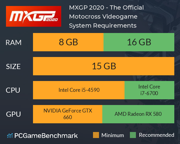 MXGP 2020 - The Official Motocross Videogame System Requirements PC Graph - Can I Run MXGP 2020 - The Official Motocross Videogame