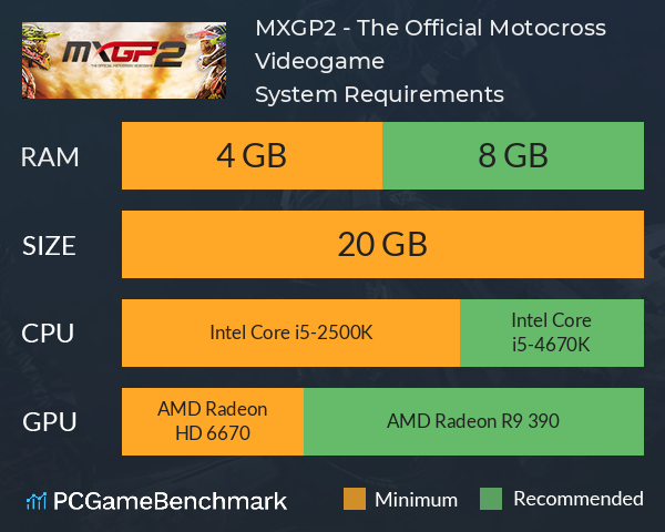 MXGP2 - The Official Motocross Videogame System Requirements PC Graph - Can I Run MXGP2 - The Official Motocross Videogame
