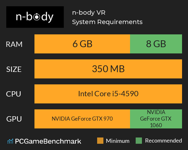 n-body VR System Requirements PC Graph - Can I Run n-body VR