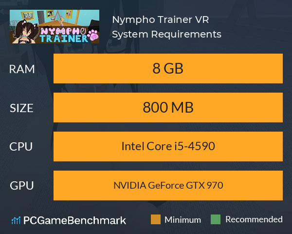 Nympho Trainer VR System Requirements PC Graph - Can I Run Nympho Trainer VR