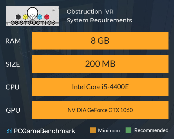 Obstruction : VR System Requirements PC Graph - Can I Run Obstruction : VR