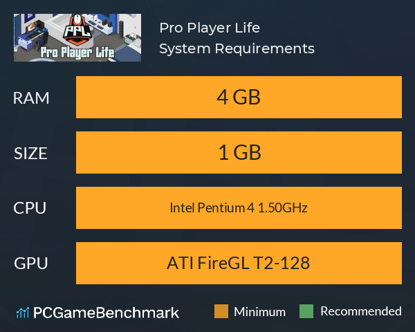 Pro Player Life System Requirements PC Graph - Can I Run Pro Player Life