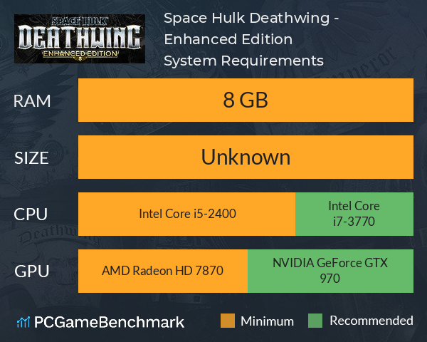 System Requirements for Space Hulk: Deathwing (PC)