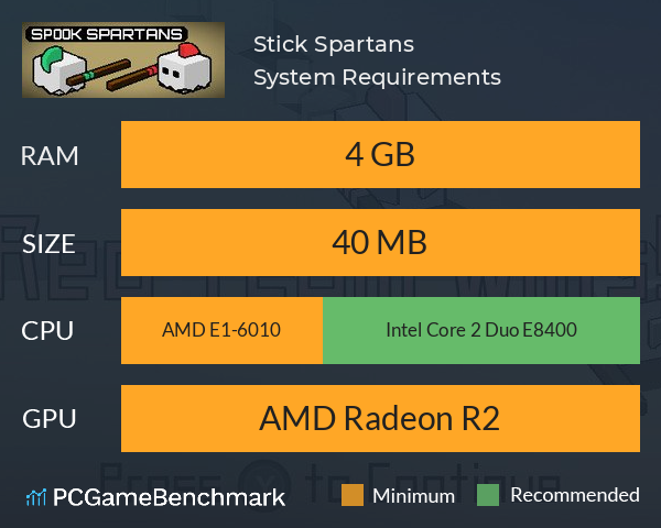 Stick Spartans System Requirements Can I Run It Pcgamebenchmark