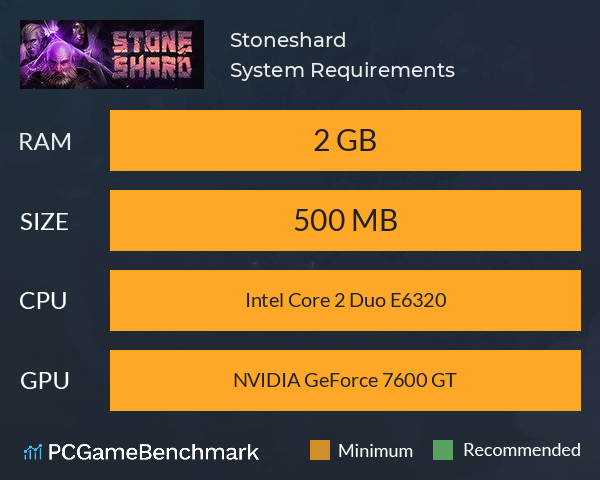 System Requirements for Stoneshard (PC)