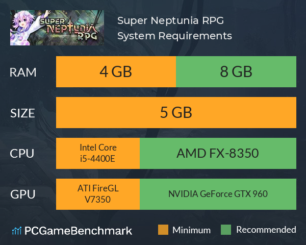 Super Neptunia RPG System Requirements PC Graph - Can I Run Super Neptunia RPG