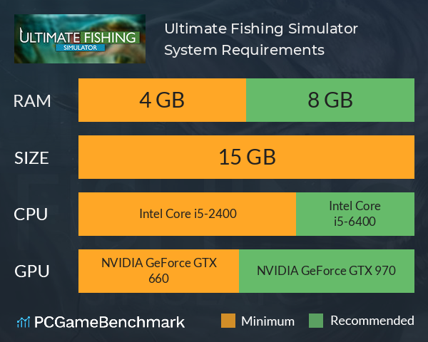 Ultimate Fishing Simulator System Requirements PC Graph - Can I Run Ultimate Fishing Simulator