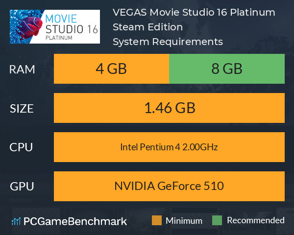 VEGAS Movie Studio 16 Platinum Steam Edition System Requirements PC Graph - Can I Run VEGAS Movie Studio 16 Platinum Steam Edition
