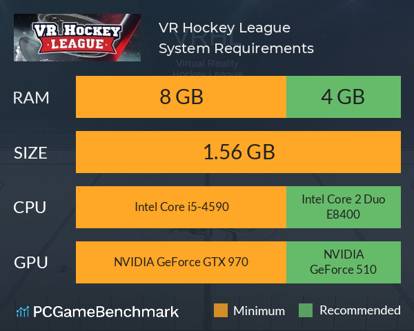VR Hockey League System Requirements PC Graph - Can I Run VR Hockey League