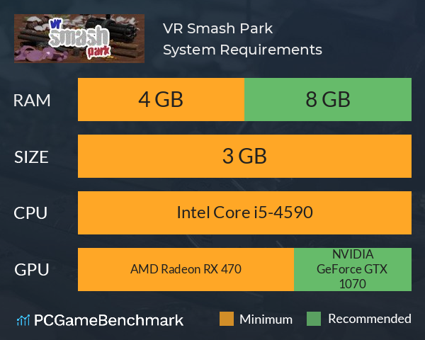 VR Smash Park System Requirements PC Graph - Can I Run VR Smash Park
