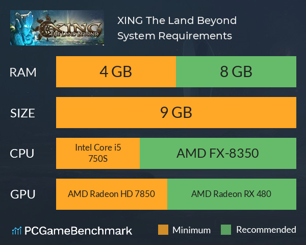XING: The Land Beyond System Requirements PC Graph - Can I Run XING: The Land Beyond