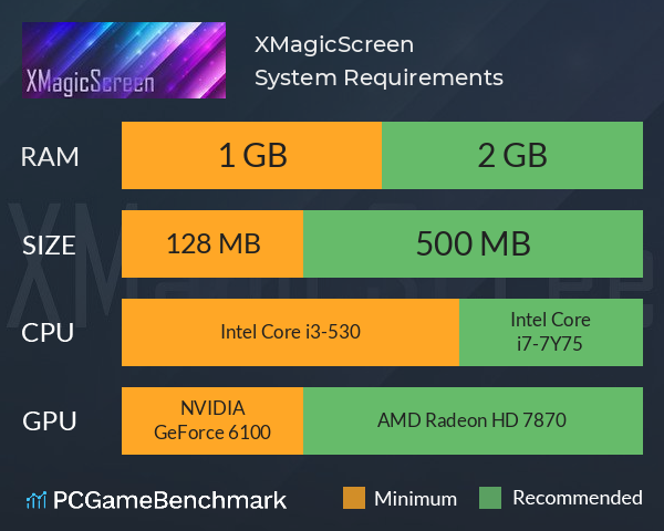 XMagicScreen System Requirements PC Graph - Can I Run XMagicScreen