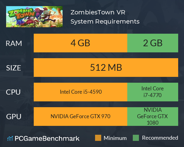 ZombiesTown VR System Requirements PC Graph - Can I Run ZombiesTown VR